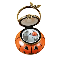 JACK O LANTERN PAIL WITH REMOVABLE GHOST