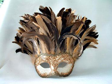 Incas Crackle Gold  Stucco/Tan Tiger Feathers