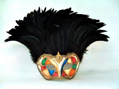 Incas Arlecchino Black Tiger Feathers