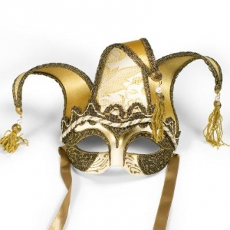 Venetian Colombina Brillantini Mask