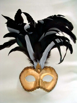 Galletto Black and White Feathers