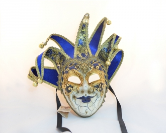 Jolly Jester Blue Mask