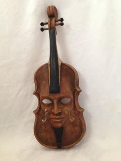 Violin Brown Decor