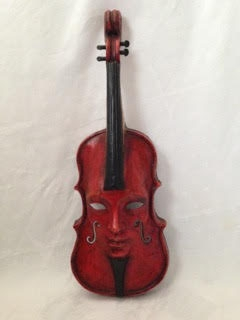 Violin Red Decor