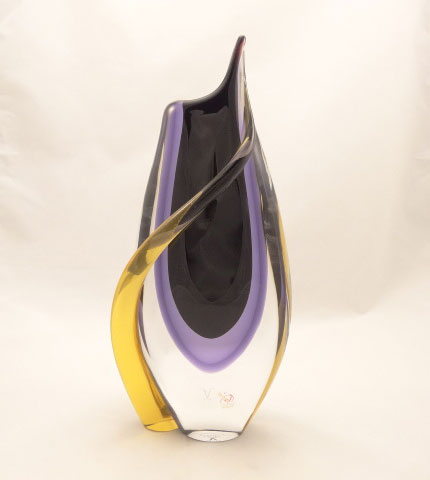 Murano Vases uk Murano Vase Violet-smoke/