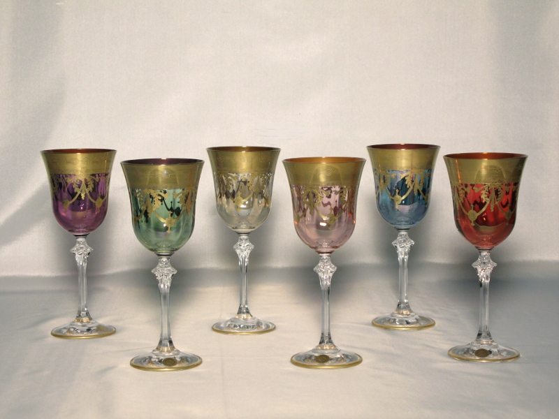 Venetian Medici Collection Wine Goblets ( set of 6)