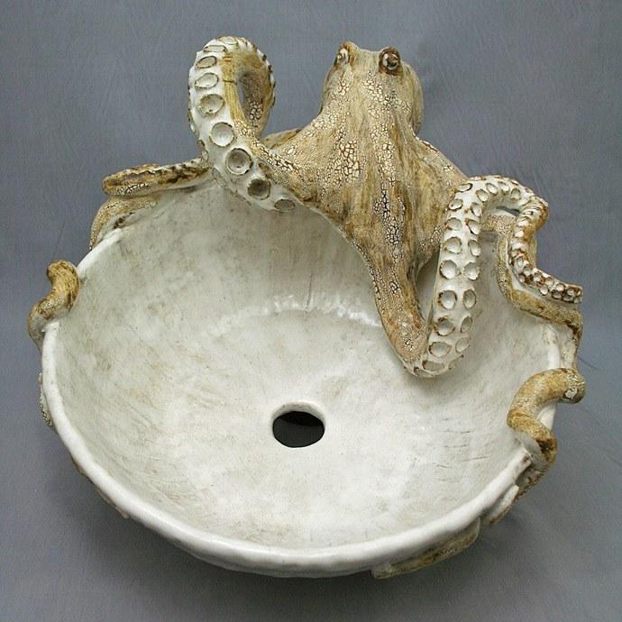 Octopus Vessel Sink World Art Glass Decor Murano Glass