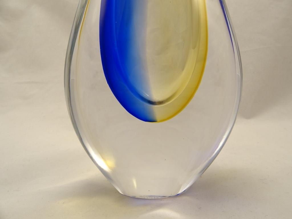 Murano glass vase cobalt blueamber murano glass murano glass murano glass vase cobalt blueamber floridaeventfo Image collections