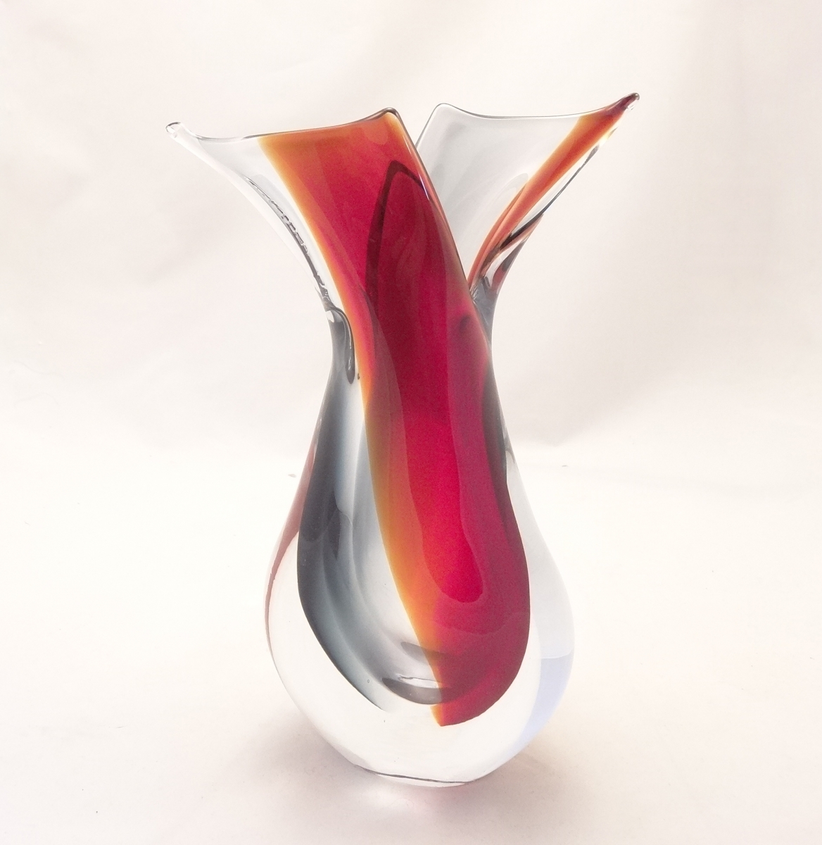Murano glass ruby red smoky crystal clear vase murano glass murano glass ruby red smoky crystal clear vase reviewsmspy
