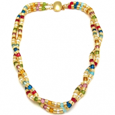 Multi Twist Necklace Multi