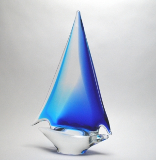 Aqua/Blue Sailboat Medium