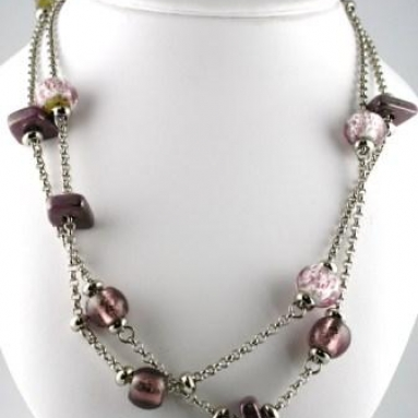 Cosmo Necklace, Long - Amethyst