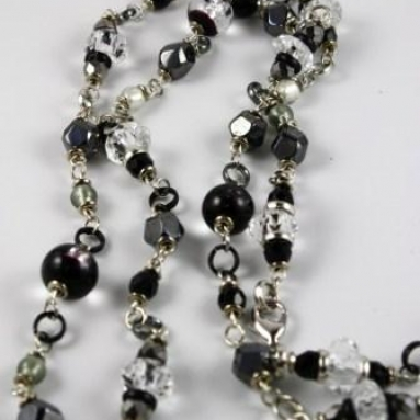 Sparkle Necklace - Black/Silver