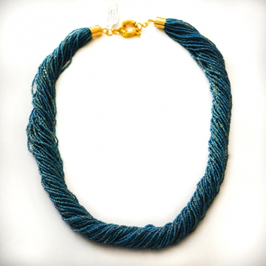 Torsione Necklace Blue