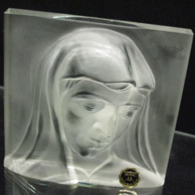 The Virgin Mary in Frosted Glass