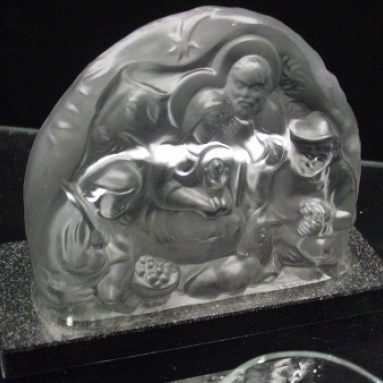 Frosted Crystal Nativity Set