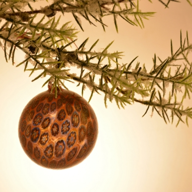 Amber Christmas tree ornament