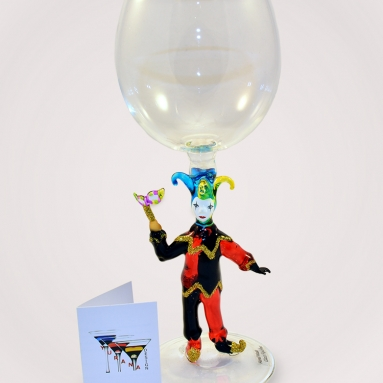 Venetian Jester Glass
