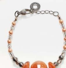 Murano Glass Bracelet Bohemia Red