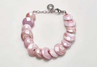Magic Murano Glass Bracelet  Pink