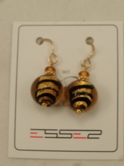 Murano Glass Earrings Amber