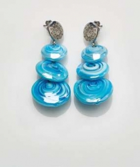 Magic Murano Earrings  Blue