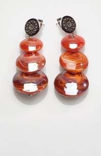 Magic Murano Earrings Red