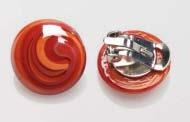 Magic Murano Glass Earrings  Red Clips