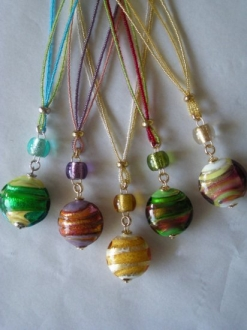 Colorful assortment Murano Glass Cassie Pendant