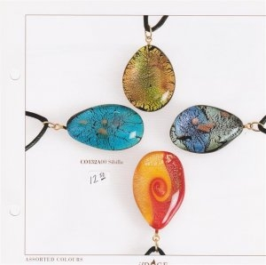 Murano Glass Drop Pendants