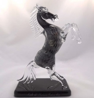 Murano Glass Black Horse