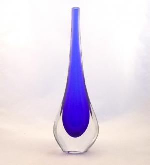 Murano Gl Cobalt Gocce Vase