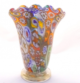 Murano Glass Murrine vase