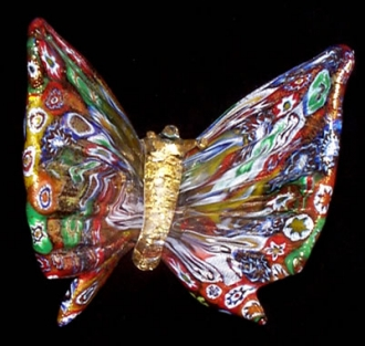 Colorful assortment Murrine Butterfly