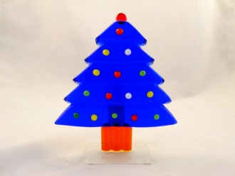 Royal Blue Bright Christmas Murano Glass Tree