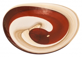 Murano Glass Red Platter Centerpiece