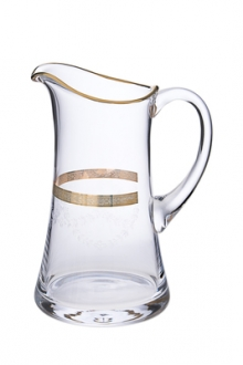 Water jug with 14KL gold artwork- 5.5D x 9H, 45 oz.
