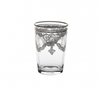 Set of 6 Tumblers with Silver Artwork