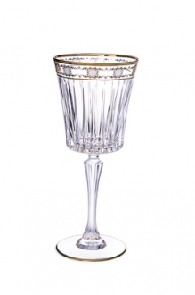 Set of 6 Water Glass w 14K Gold Artwork