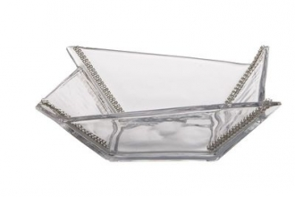 CBS168-Square Bowl Swarovski Crystal
