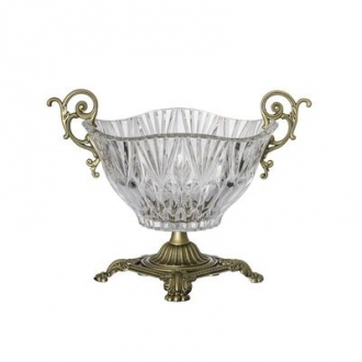 CZB65-Glass Brass Bowl
