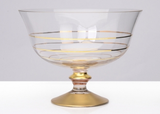 Serving Bowls with 14k Gold-Set/4