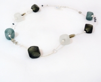 Beaded scoglio satin murano glass necklace