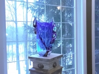 Magnificent Murano Glass Vase Blue