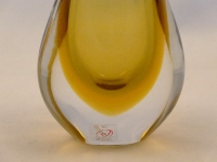 Murano Glass Golden and Crystal Mini Gocce Vase