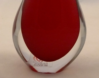 Murano Glass Ruby Red Gocce Vase