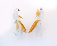 Murano Glass Birds Family