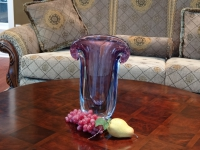 Murano Glass Vase Purple/Aqua/Blue