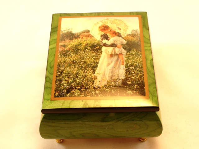 Best of Days High Gloss Green Music box by Sandra Kuck