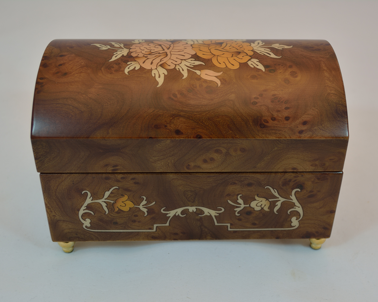Matte Burl Music Jewelry Box
